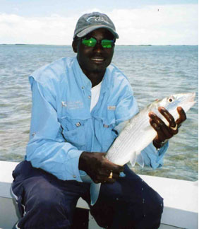 Captain Darin with take you bonefishing in Turks and Caicos Islands 